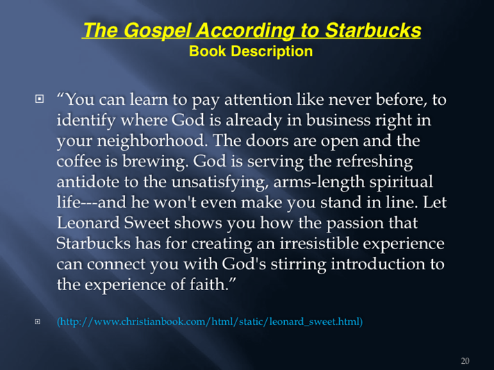 the gospel according to starbucks pdf