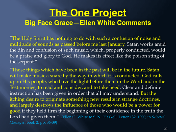 7 The Emerging Church and The One Project - Part 7